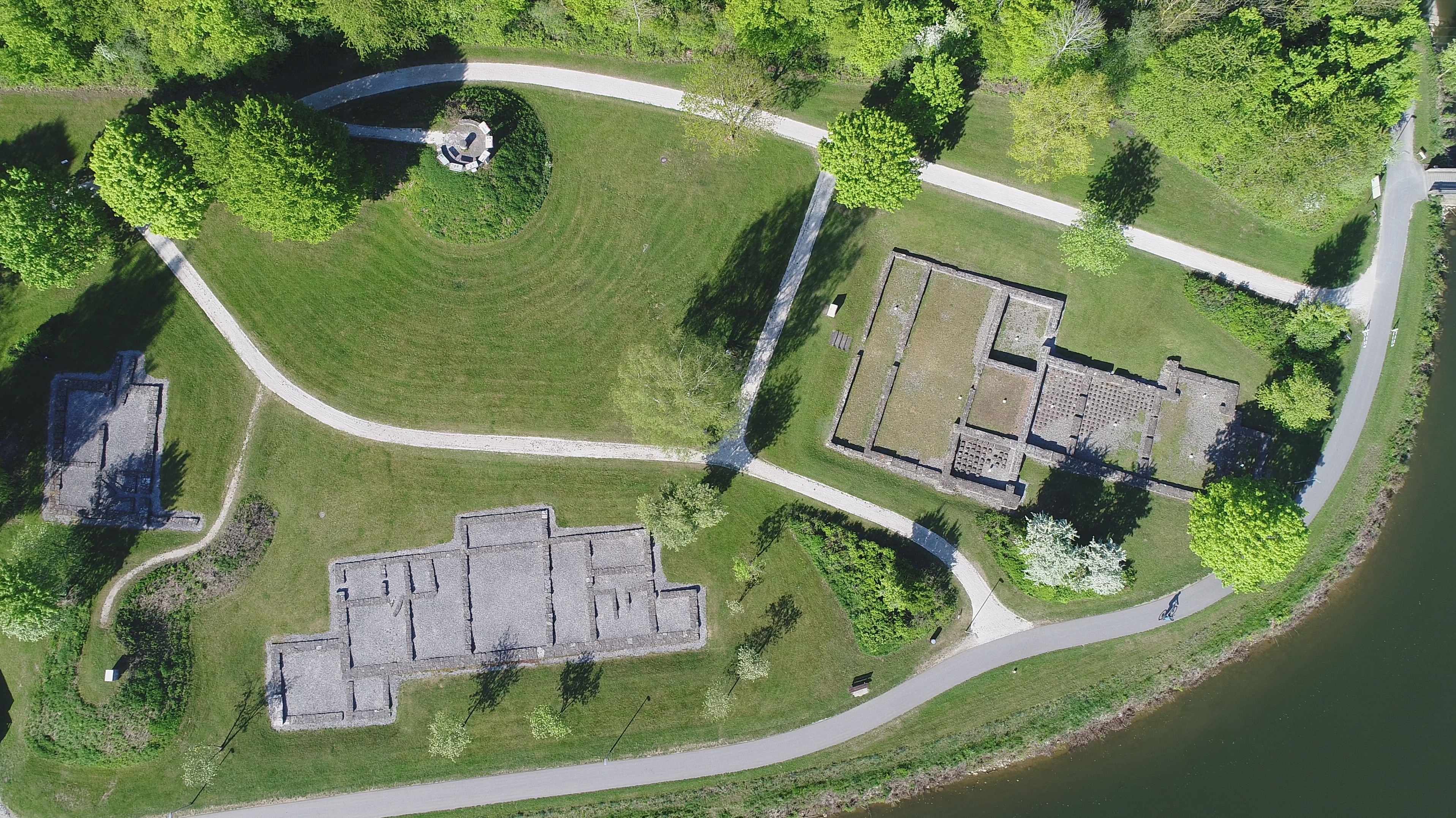 Luftbild Römerbad und Zivilsiedlung